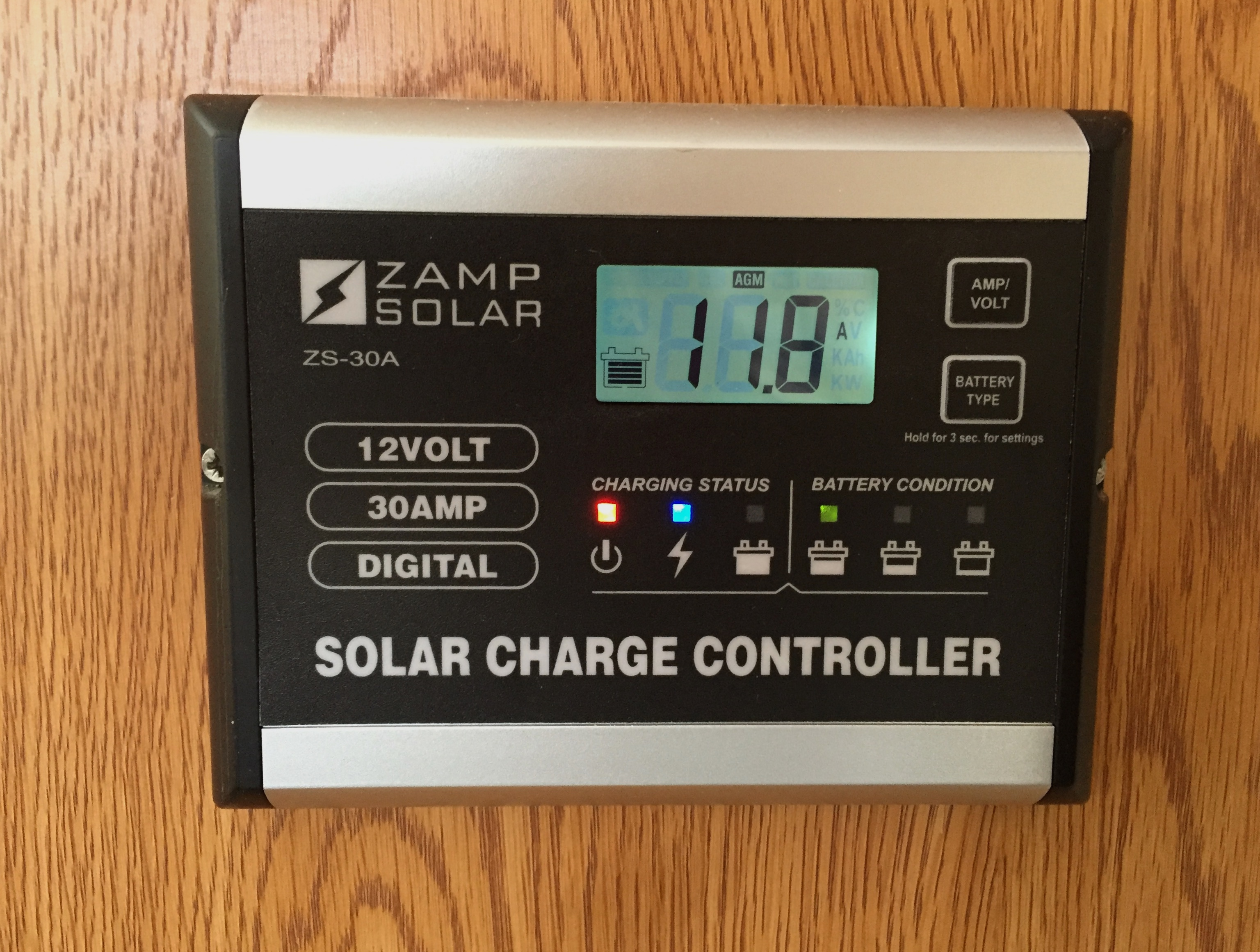 review of the zamp zs 30a solar charge controller truck camper rh truckcamperadventure com
