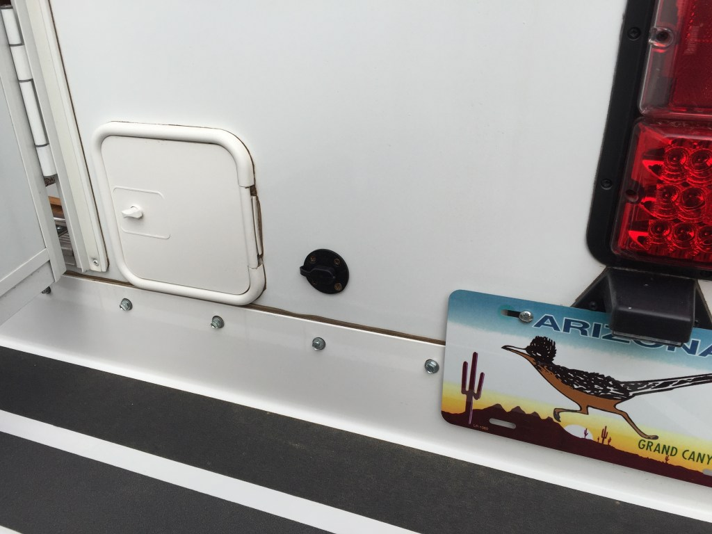Installation Of Zamp Solar S Sidewall Charge Port Truck
