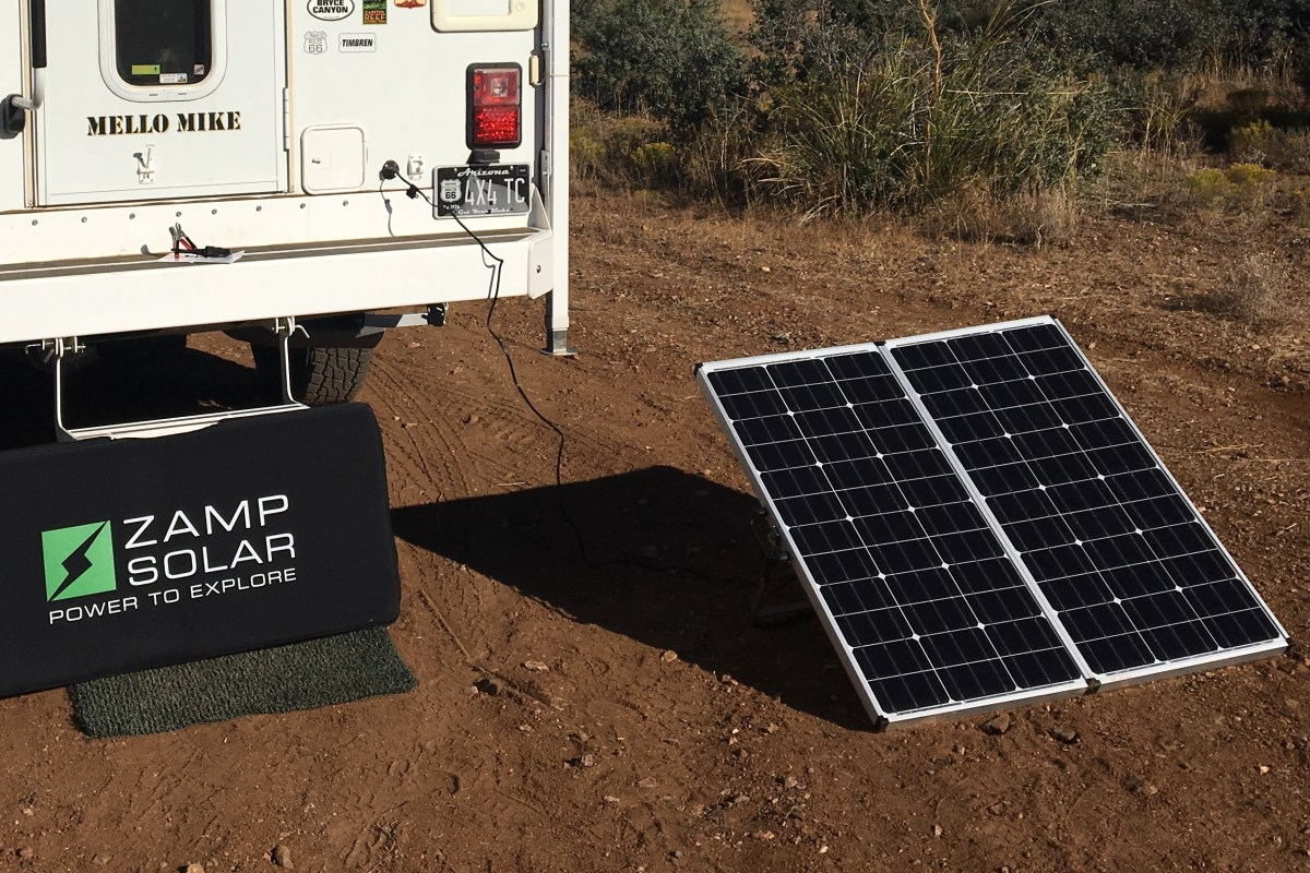Review Of Zamp Solar S 160 Watt Portable System Truck