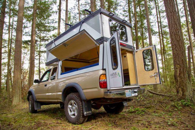 Hiatus Campers Releases Patented Hard Side Pop Up Truck Camper Adventure