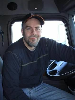 Trucking Made Easy: The Complete E series  Image of jim in truck seat