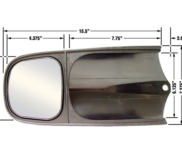 Slip On Towing Mirrors 2 For Ford Chevy Dodge Applications 10000