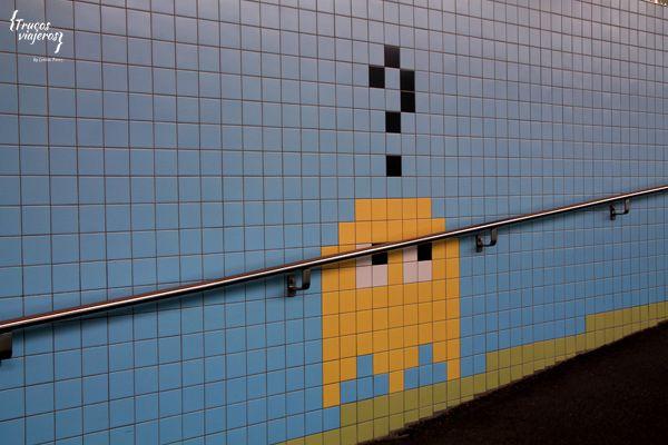 Tiled art at Stockholm underground