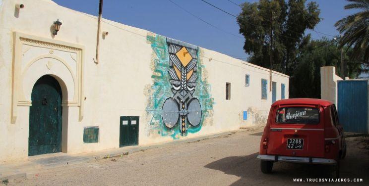 Wisetwo graffiti Djerba Tunisia