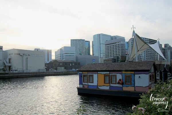 Barcos casa rio Sumida Tokio