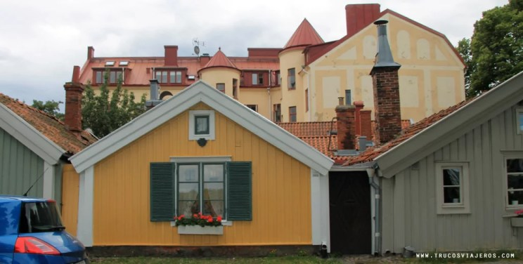 Seafarers houses medieval Kalmar Sweden