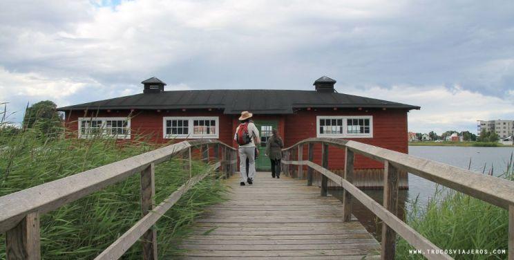 Kalmar traditional washing house Sweden