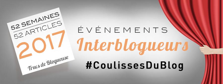 L'événement interblogueurs #CoulissesDuBlog : un nouveau projet pour 2017