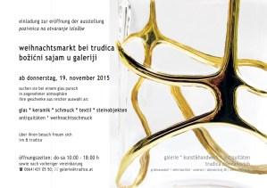 Einladung für den Weihnachtsmarkt in Trudicas Galerie