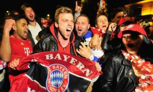 Munich football celebration