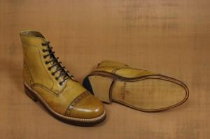 Grenson Jackson Captoe Derby Boot – Tan