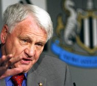 Sir Bobby giving press conference