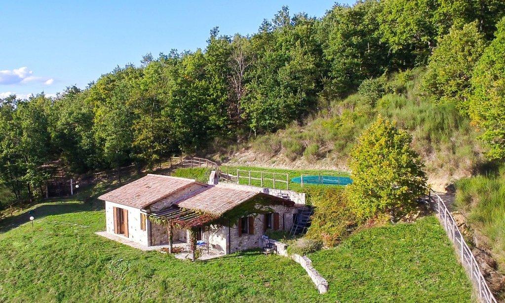 Villa Carina in Umbria - Aerial View