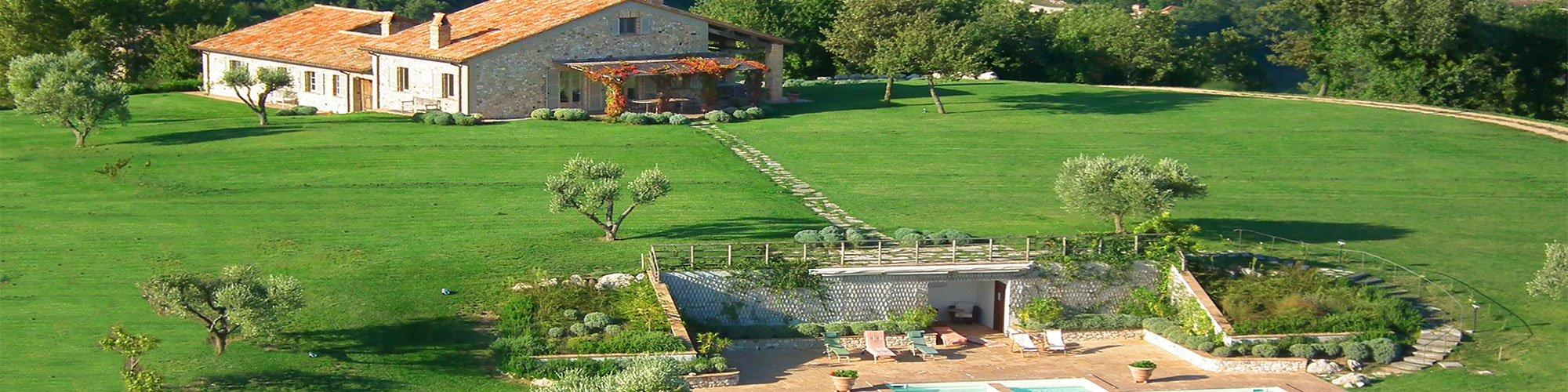 Villa Campo Rinaldo in Umbria - Aereal View