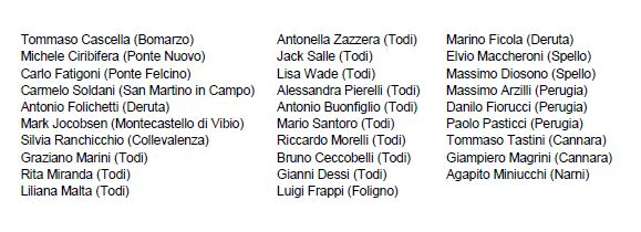 Artist List in Umbria