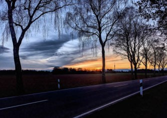 Sonnenuntergang auf dem Jakobsweg