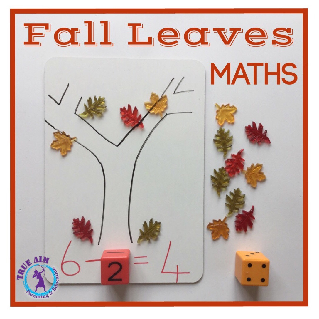 Fall Leaves Math Activity For Prek And Kindergarten