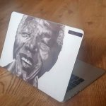 Stuck for small gifts ideas, choose our Nelson Mandela Vinyl Decal, great stocking fillers this Christmas.