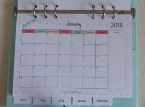 Download your free 2018 monthly printable calendar now! Available in A4, Letter and A5 size, you can also receive a free Year at a Glance calendar. For more freebies, visit www.trueblissdesigns.com.
