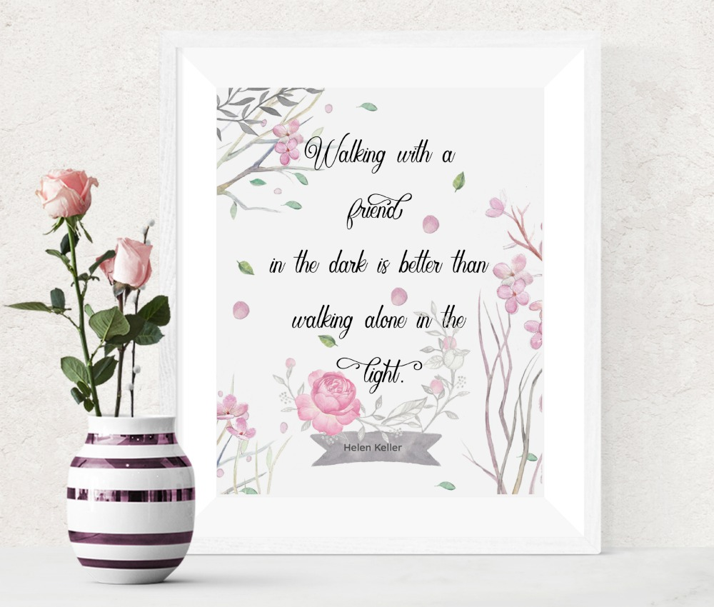 Helen Keller Printable Friendship Quote