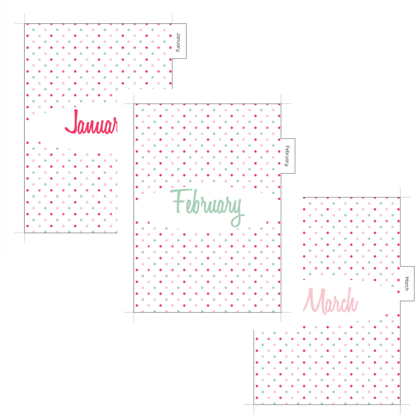 Download your free printable monthly dividers with tabs now! The dividers are designed for A5 planners and are designed to fit an A5 filofax or planner such as Kikki K and can be used year after year. These cute dividers have a colourful polka dots design and would be a beautiful addition to any planner. For more freebies, visit www.trueblissdesigns.com.