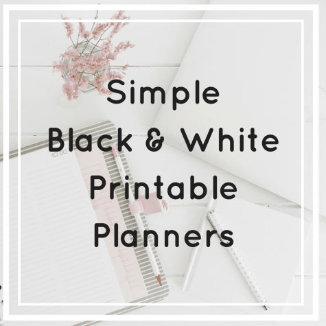 If you like minimalist black and white printable planners. Check out these simply designed daily, weekly, monthly and yearly planners.
