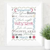 Seasonal Winter Subway Printable Art