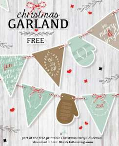 Free printable Christmas Garland
