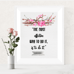 Download these 6 positive free printable art quotes by famous strong women including Rosa Parks, Martha Stewart and JK Rowling. These are motivational quotes to live by in your life. More freebies at www.trueblissdesigns.com.