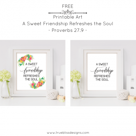 Sunday Scripture Printable Art Proverbs 27.9