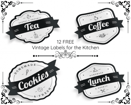 Add some retro style to your kitchen with these free printable vintage labels. The set has a label for the most popular pantry containers, including your tea and coffee jars and as a bonus includes a blank template so you can add your own label name. Don't hesitate, download these printables today and give your pantry a chic makeover.