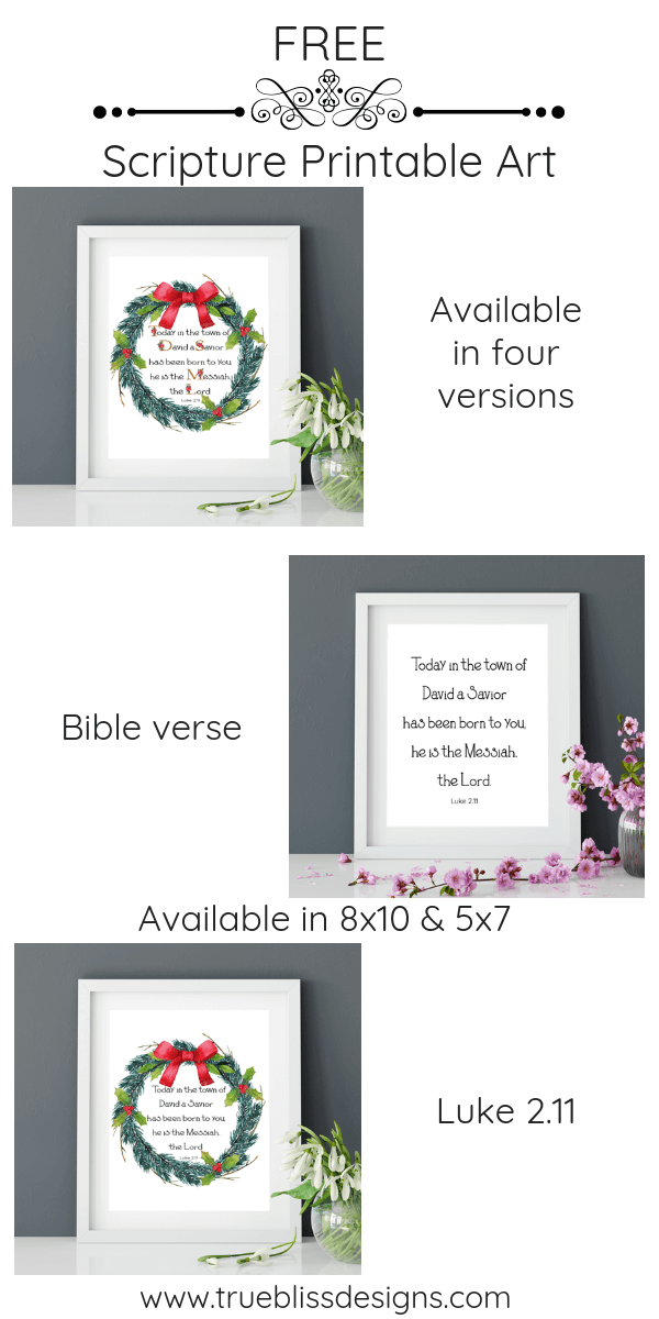 Free printable art scripture quotes from Luke 2.11