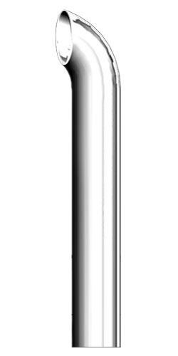 8 chrome exhaust stack curve plain