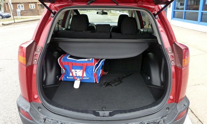 Toyota Rav4 Photos 2013 Toyota Rav4 Cargo Area With Seat Up