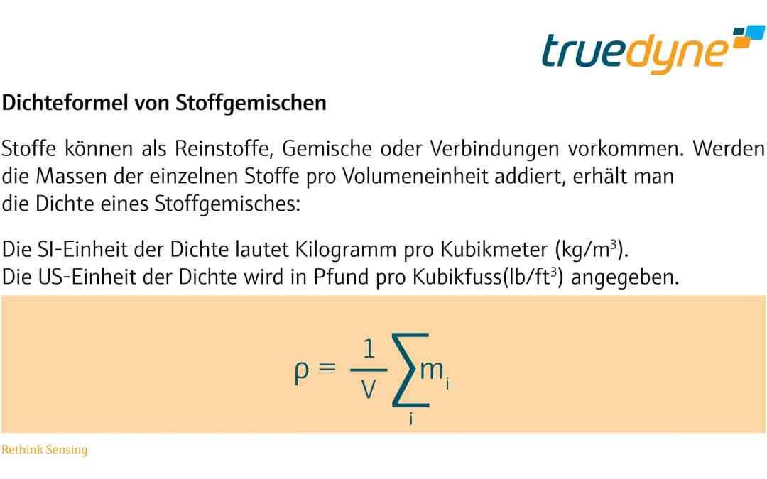 TrueDyne Bild - Dichteformel von Stoffgemischen