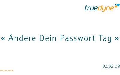 Ändere Dein Passwort Tag