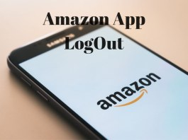 How To Logout Of amazon App