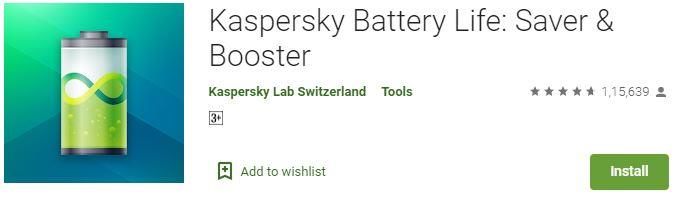 Kaspersky Battery saving app for android