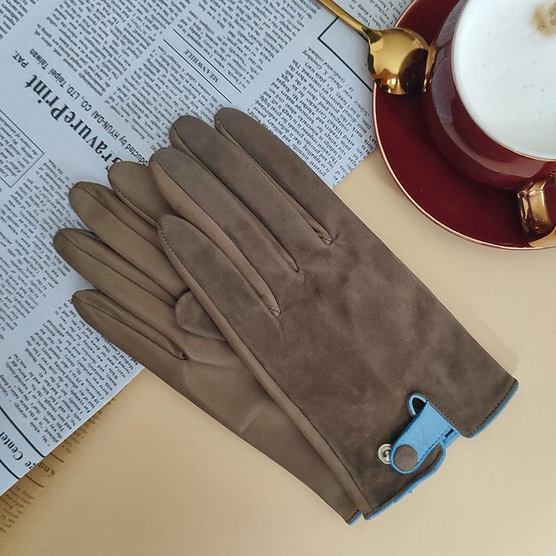 Haydn – Wildleder Frauenhandschuhe, Kakaofarben