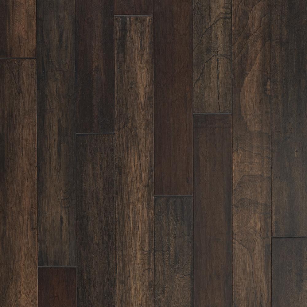 """Mannington Mayan Pecan Hardwood Flooring: Mannington Mayan Pecan Pepper 5"""" Hand Scraped Discount"""