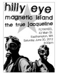 Flier for a show at The Flywheel, Easthampton, MA. August, 2012.