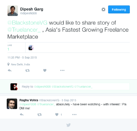 raghu-tweet-truelancer-funding