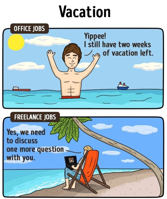 freelance-vs-office-job-difference