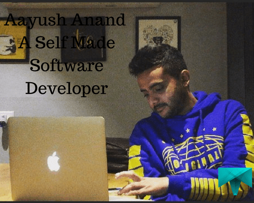 Aayush while working
