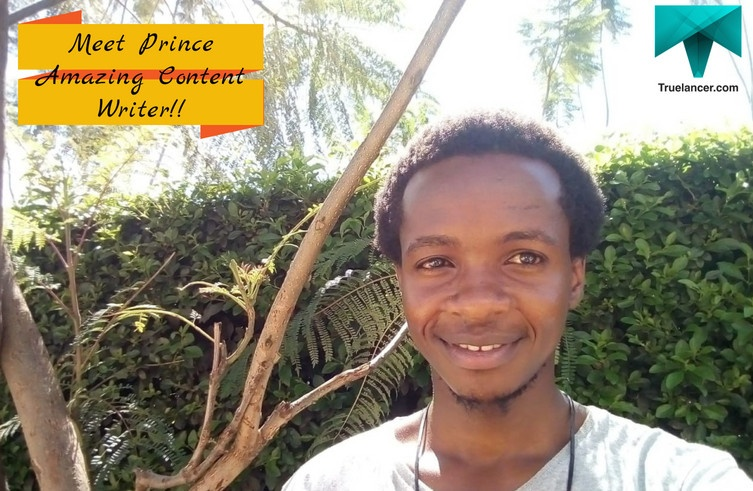 Prince from Kenya-Amazing Content Writer, who always get 5 Star Ratings