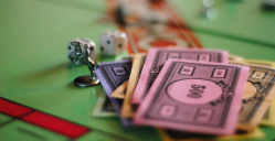Gamification monopoly with dice and cash