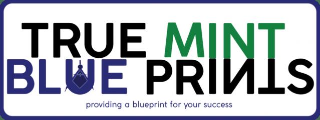 True mint blueprints emblem design process true mint blueprints wordmark logo true mint blueprints malvernweather Image collections