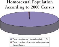 Homosexual Population Pie Chart