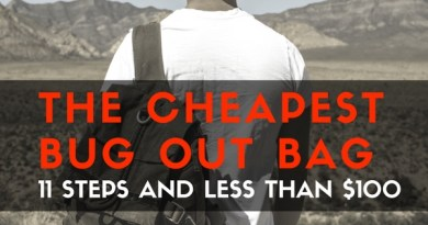 The Cheapest Bug Out Bag: 11 Steps and Less Than $100
