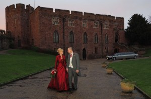 The grounds at Shrewsbury Castle for this wedding photography shot